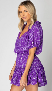 Ultraviolet Ruffle Dress