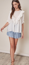Blue Ruffled Skort