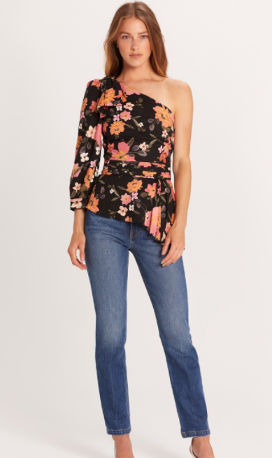 Floral One Shoulder Top