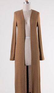 Camel Duster Cardigan