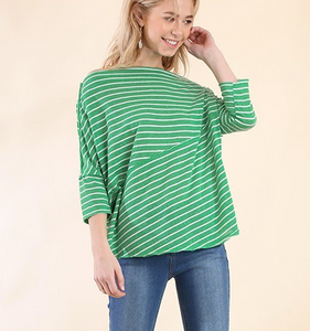 Kelly Green Straight Neck Top