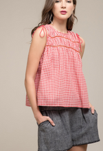 Red Gingham Top