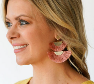 Blush Double Fan Earrings