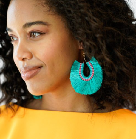 Jade Fringe Earrings