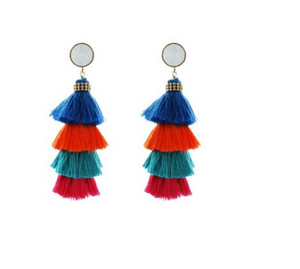 Stacked Tassel Earrings