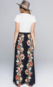 Vintage Floral Walk Through Skirt