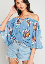 Dusty Blue Floral Top