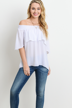 Smocked Off Shoulder Top