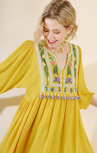 Yellow Tassel Trim Dress