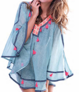 Sky Tassel Cover Up Tunic