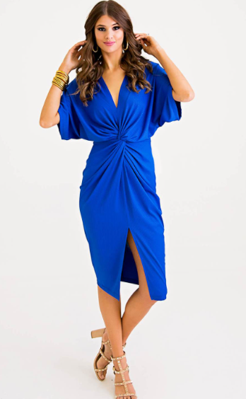 Royal Twist Front Dress