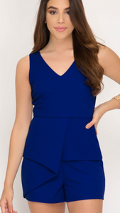 Peplum Party Romper 2 Colors