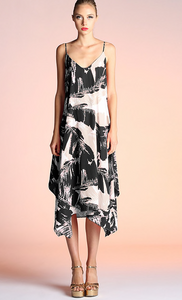 Black & Grey Palm Dress