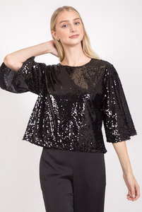 Black Sequin Top