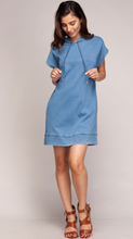Vintage Blue Hooded Dress