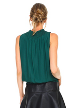 Hunter Green Smocked Neck Top