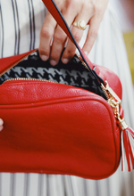 Sightseer Crossbody Bag- Red or Black