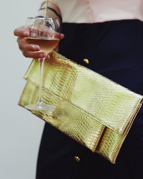 Gold Passport Clutch