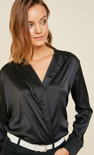 Black Surplice Top
