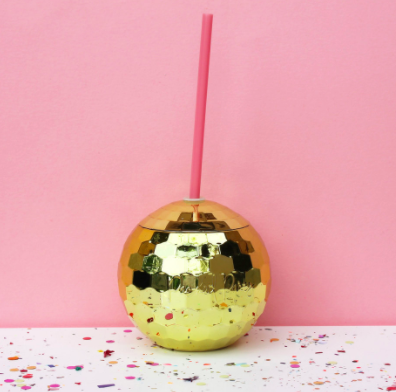 Gold Disco Ball Drink Holder