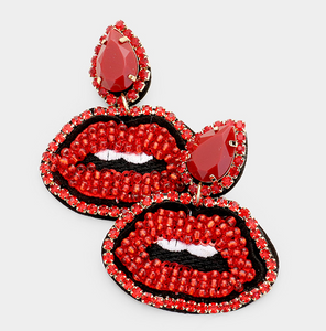 Lips Earrings- 3 Colors