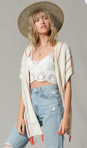 Tassel Bottom Knit Cardigan