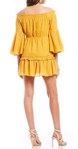 Yellow Bell Sleeve Dress