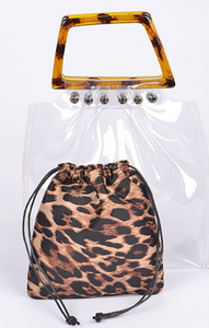 Leopard Clear Bag