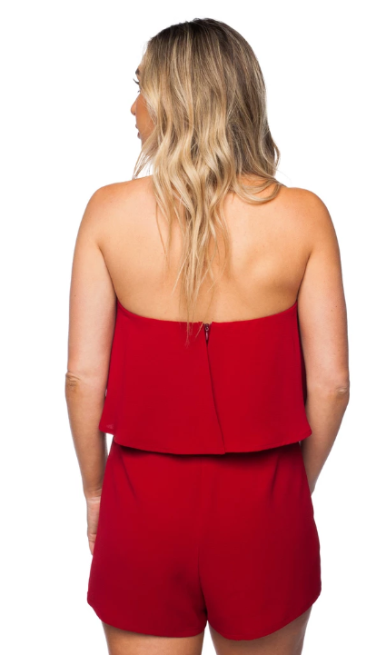 Maroon Off Shoulder Romper