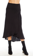 Black Smocked Waist Skirt