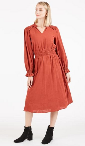 Peasant Midi Dress
