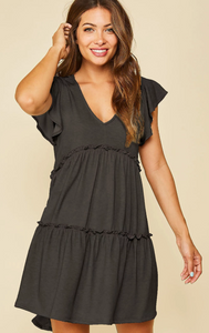Ruffle Knit Dress
