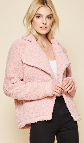 Blush Sherpa Jacket