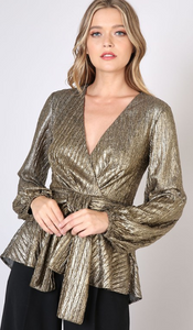 Metallic Front Detail Top