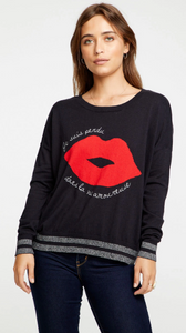 French Lips Cashmere Pullover