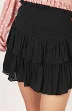Ruffled Skort- Black, Latte or Olive