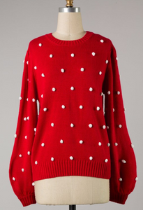 Holiday Pom Knit Sweater