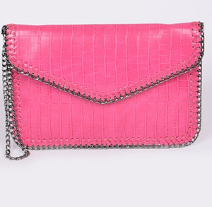 Fuschia Chain Bag