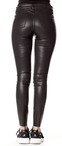 Hilary High Rise Black Faux Leather