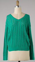 Green Back Detail Sweater