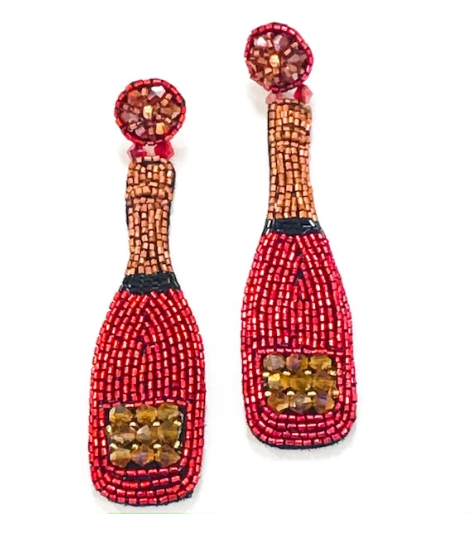 Red Champagne Earrings