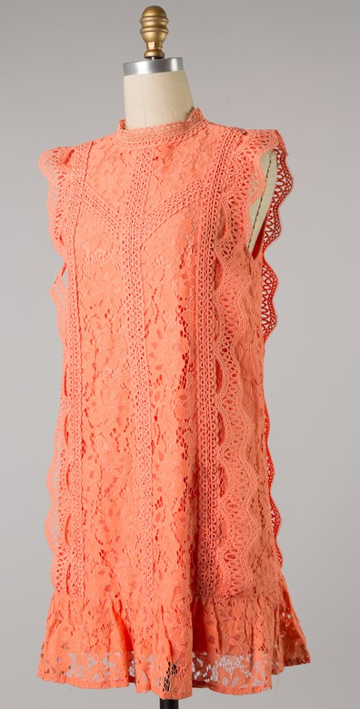 Floral Lace and Crochet Dress