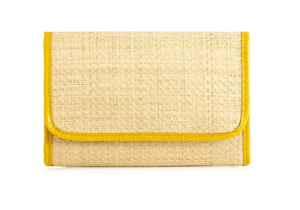 Karlie Raffia Clutch- Yellow or Black