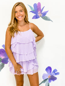 Lavender Tiered Top