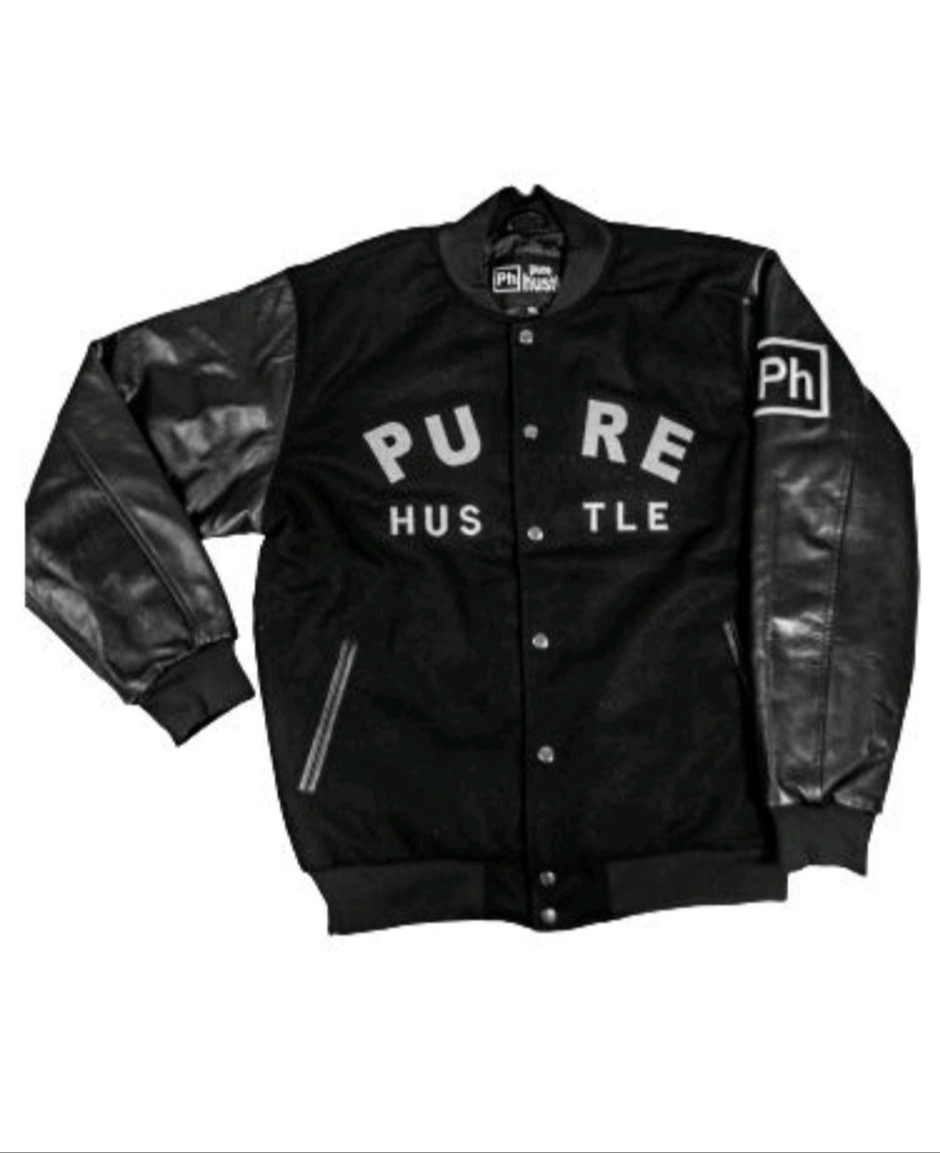 Pure Hustle Letterman Jacket