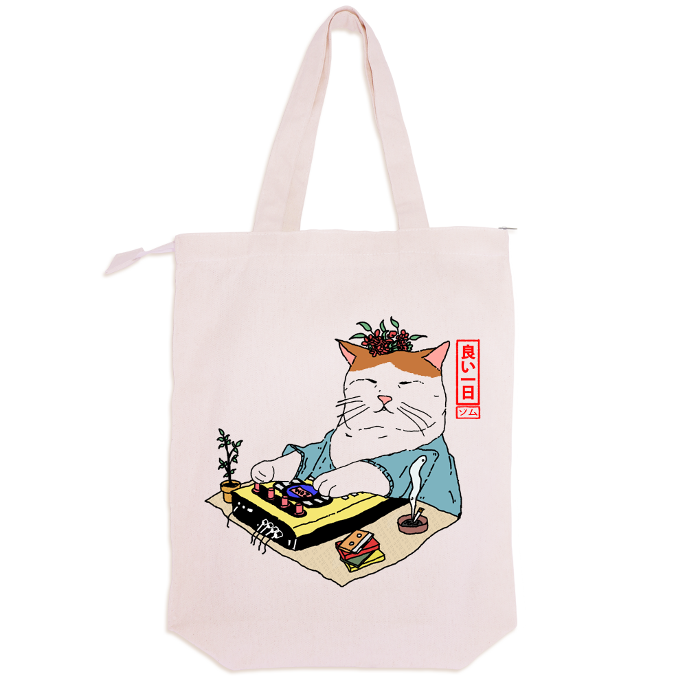 VERY COOL CAT BEATS TOTE BAG x artsykit®