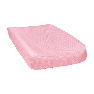 Cotton Candy Mini Dot Baby Changing Pad Cover