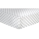 Gray Dot Flannel Fitted Crib Sheet