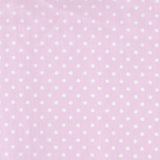 Lavender and White Dot Changing Pad Cover