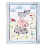 Farm Animal Stack Crib Bedding Set